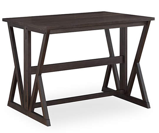Espresso Brown Folding Dining Table Dining Table Modern