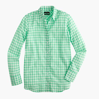 Boy shirt in crinkle gingham : button-ups | J.Crew | Did someone ...