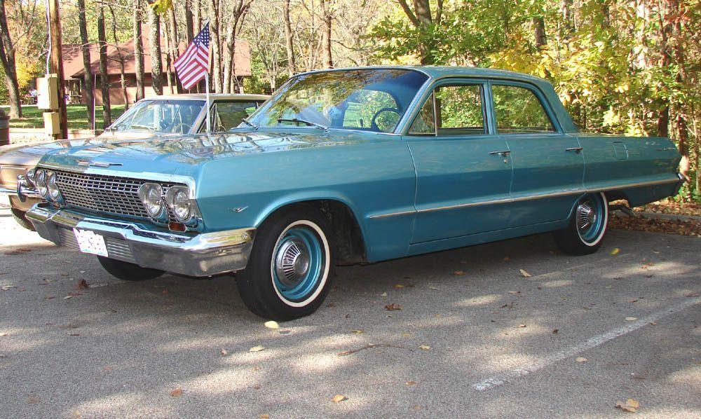 1963 Chevy Bel Air 4 door sedan   Impala '58 through '64   Pinterest
