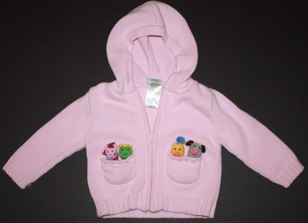 8f83e5420 Baby Einstein Infant Girls 6-9 Months Pink Hooded Zip Up Cardigan ...