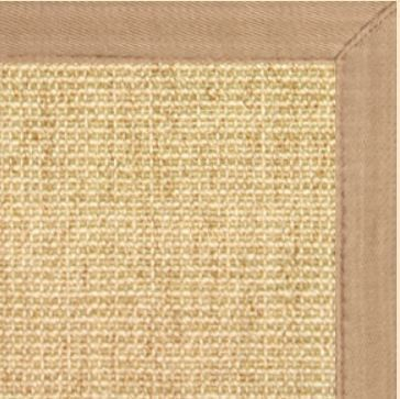 Sustainable Lifestyles Sand Sisal Rug w/ Wheat Extra Wide Canvas Border