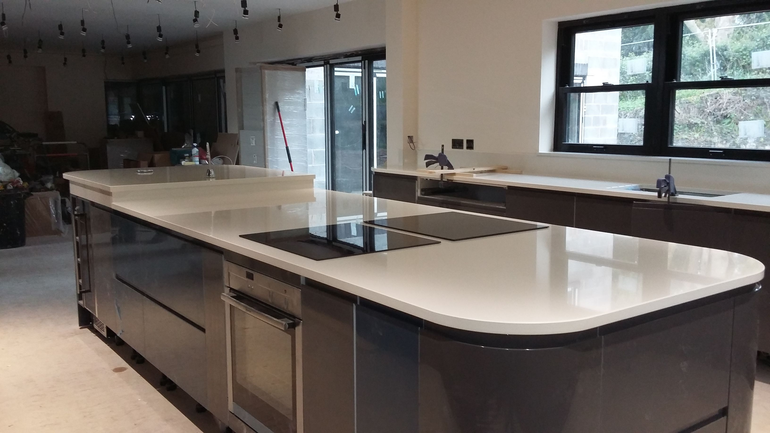 This Beautiful Clerkenwell Gloss Kitchen In Graphite Was Designed By Our Telford Depot To Design