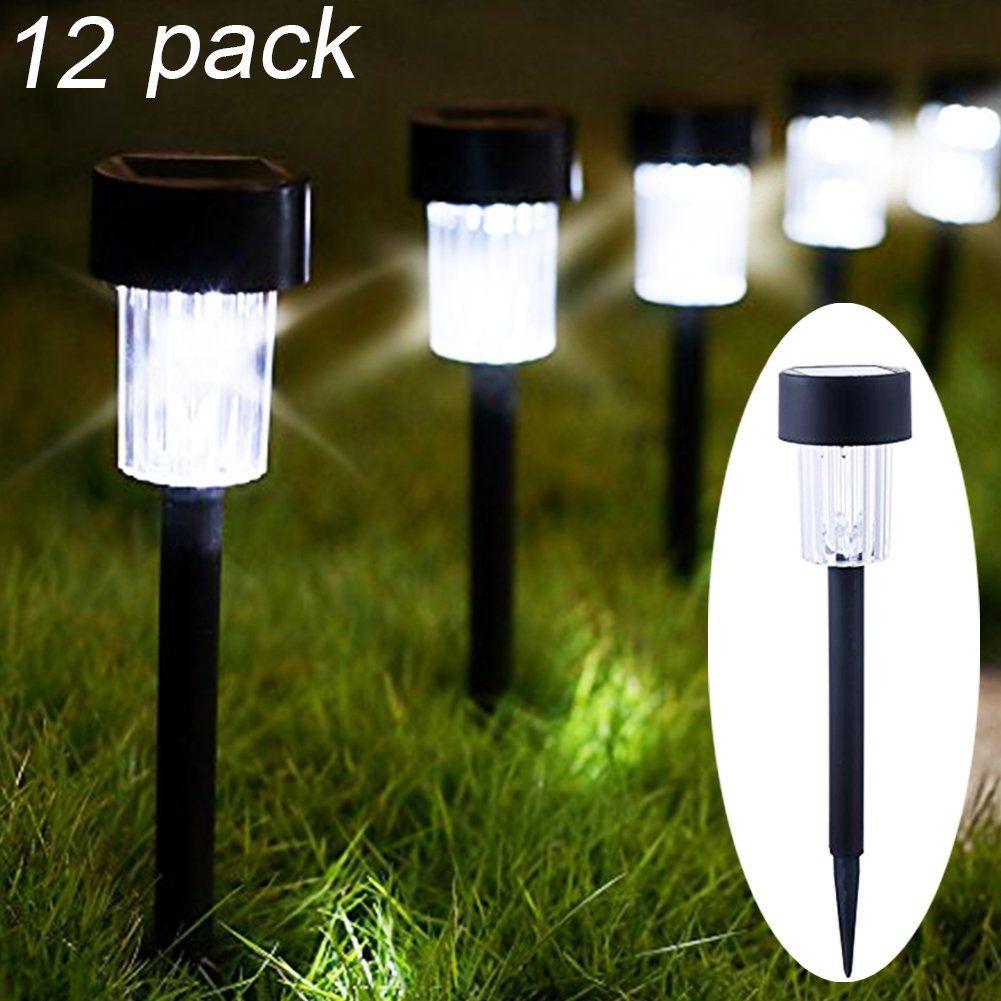 Maggift 12 Pack Solar Pathway Lights Solar Garden Lights