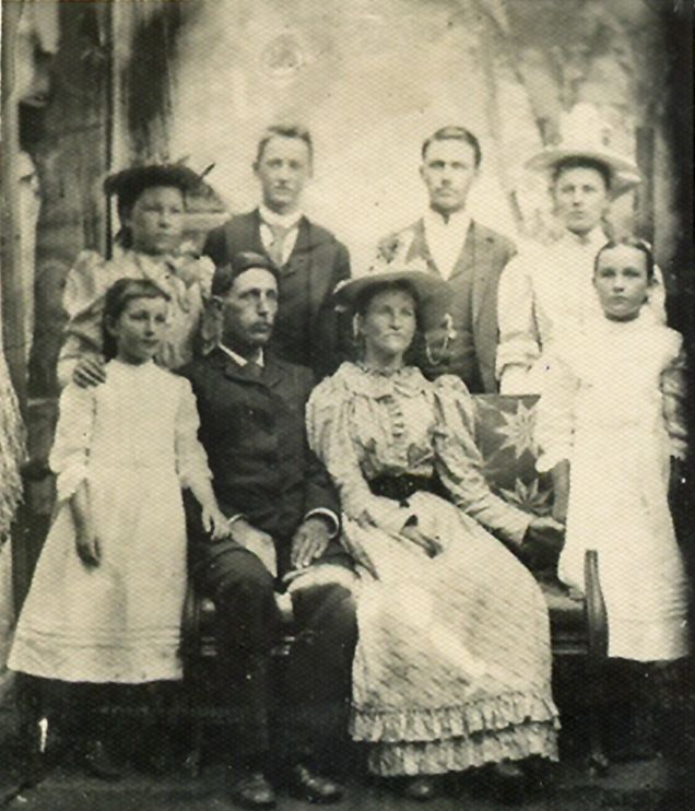 1893 photos of children | August 1893 wedding photo of Amos Daniel Humphries and Emma Arima ...