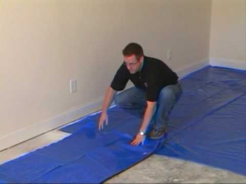How To Install The Moisture Barrier Over Concrete Subfloor Home
