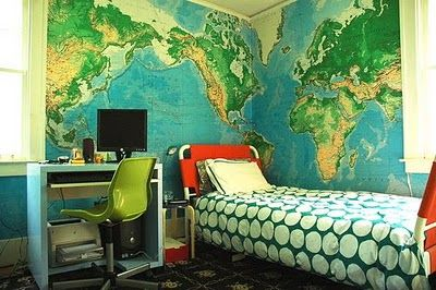boy map room