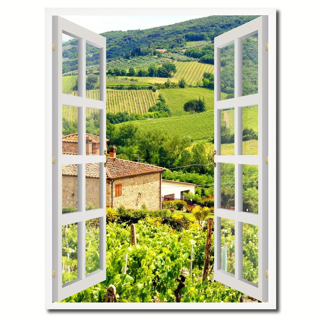 Promo Code Home Decorators Collection: Wine Vineyards Tuscany Italy Picture French Window Canvas