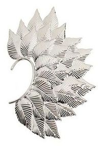 Silver Leaves Overlapped Style Ear Cuff pinned with Bazaart