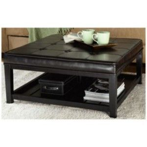 Ottoman Coffee Table | Large Cushioned Ottoman Coffee Table W/Shelf | Shop  Home|