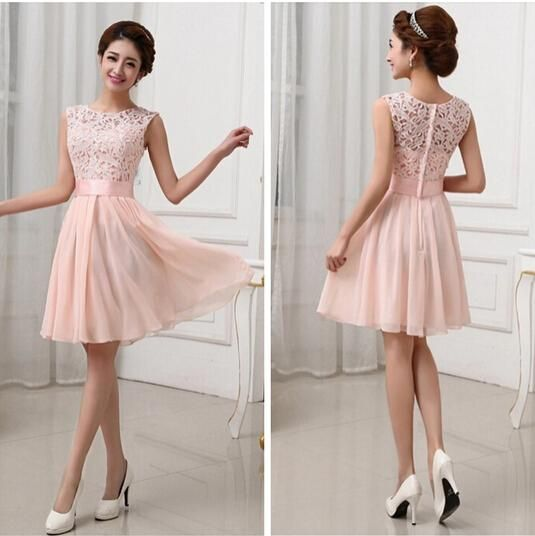 75121e4b7a23 One Strap Bridesmaid Dresses New Vestidos De Fiesta Pink White ...