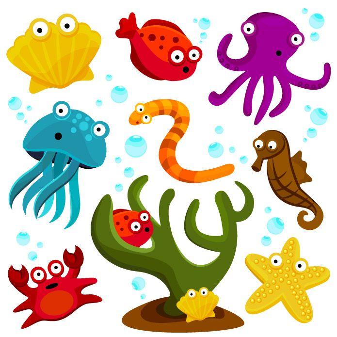 Animali Marini Da Stampare E Colorare Clip Art Gratis Clip Art