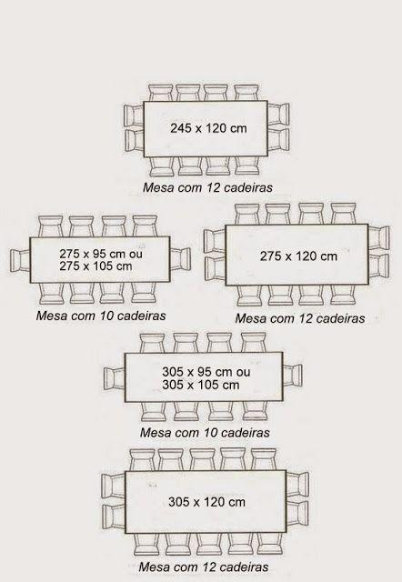 Medidas de mesas de jantar : redondas, ovais e retangulares | Mesas ...