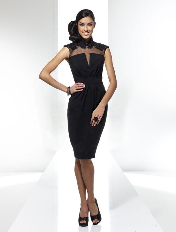 5524f2ff9c02 Čierne púzdrové spoločenské šaty s krajkovým vrchom S52 - Svadobný salón  Valery