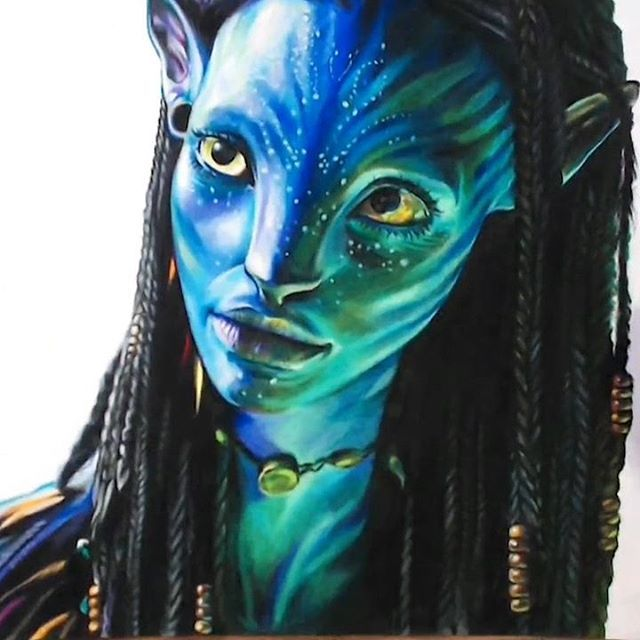Moon In Avatar Movie: Drawing Neytiri, Avatar 2009 #drawing #drawholic #avatar