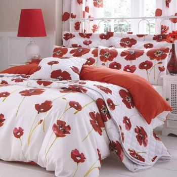 Poppies Duvet And Accessories More Duvets And Accessories Available Bedroom Red Red Sheets Red Bedding Sets