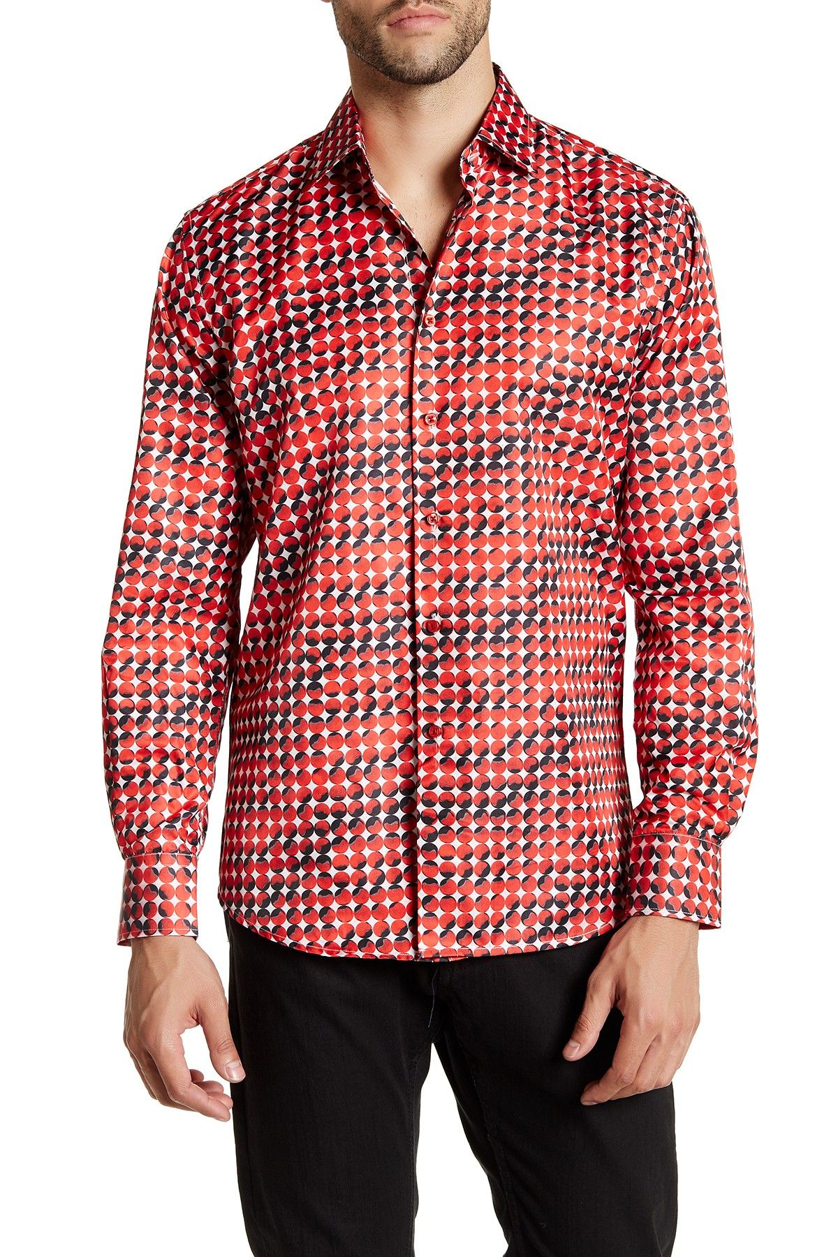 Long Sleeve Patterned Slim Fit Shirt