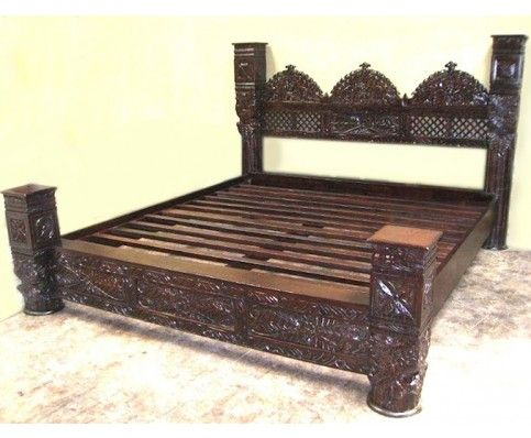 Hand Crafted Jhula Arch Pillar Bed Headboard Styles Bed