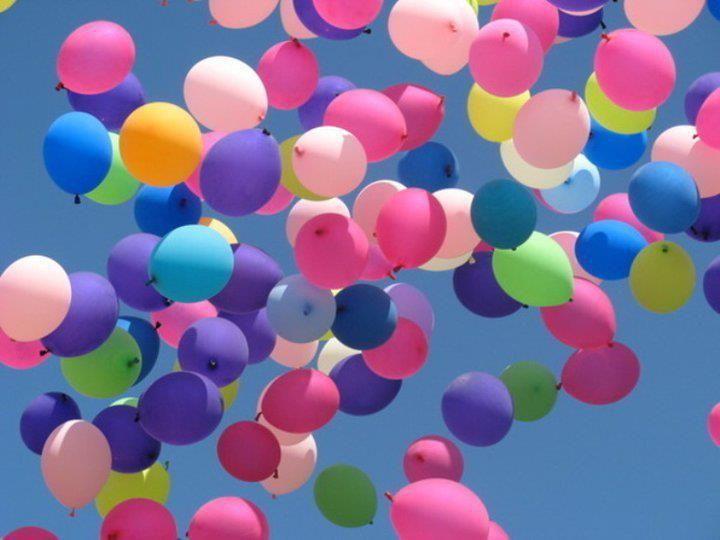 Imagem de bexigas coloridas