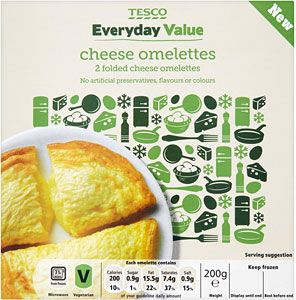Buy Tesco Everyday Value 2 Cheese Omelettes 200g Online In Tesco At Mysupermarket