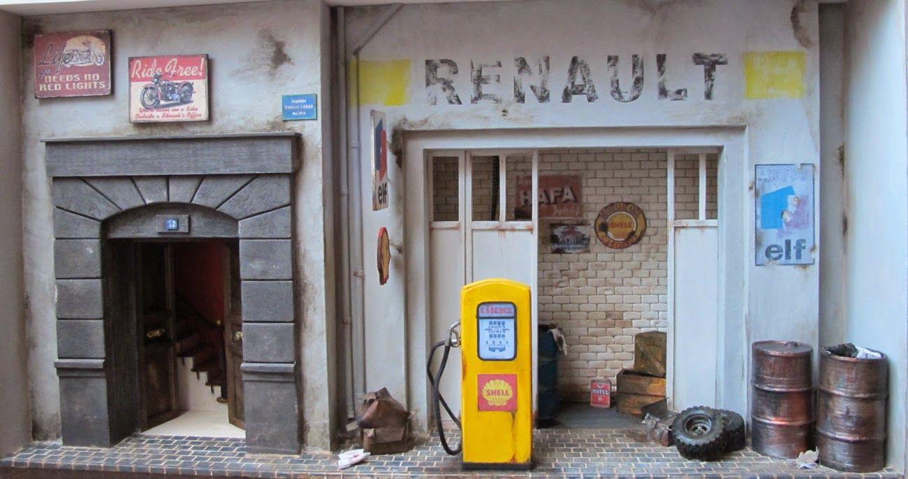 Miniatures Ladan Le Garage Renault Vitrine miniature