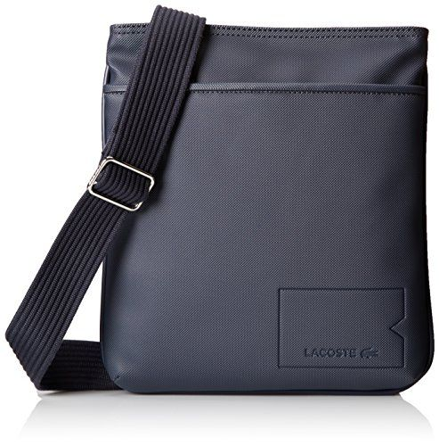 3bda48eea8f Lacoste Men's Classic Flat Crossover Bag, Black Iris, One Size *** You can  get more details at