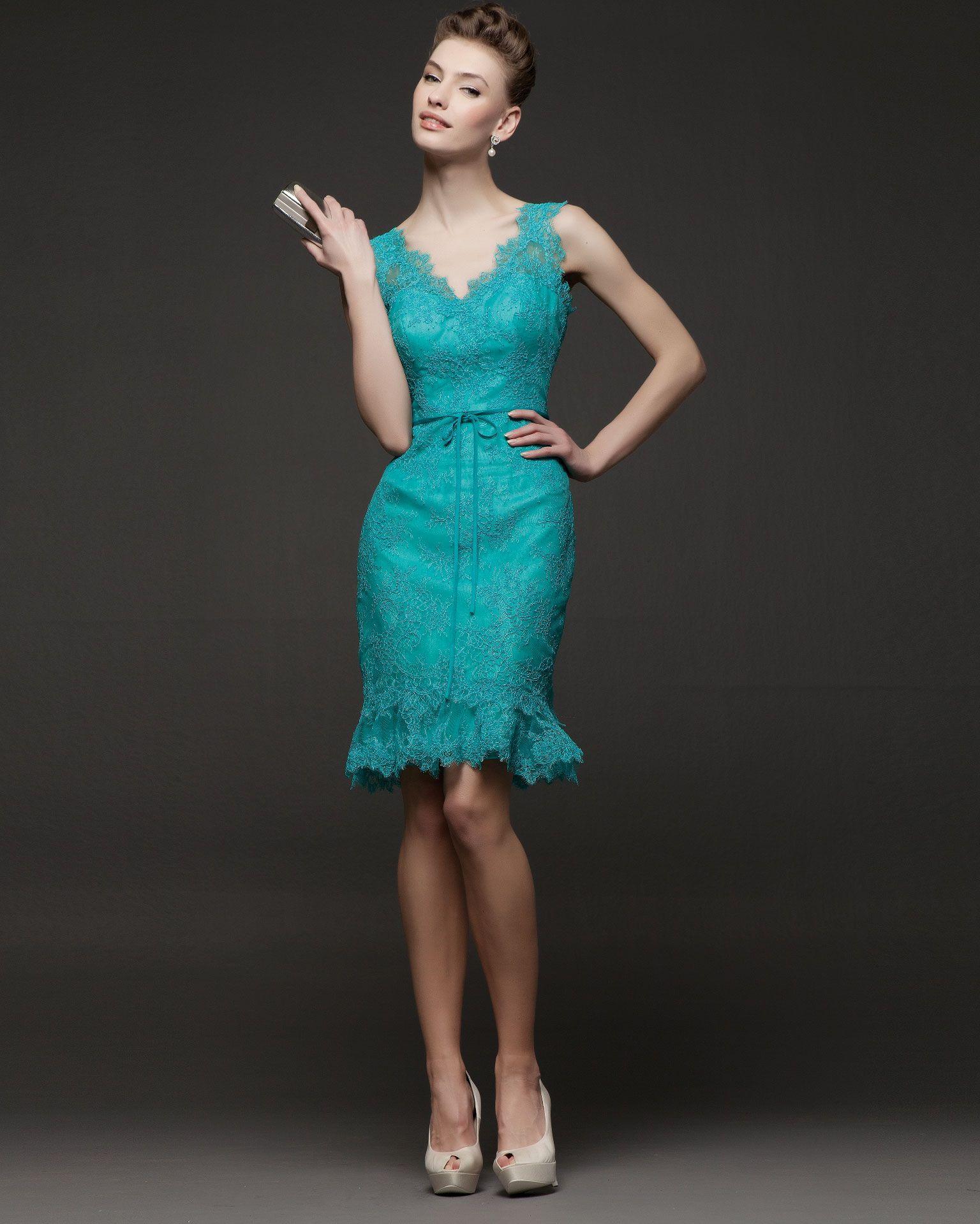 vestidos-de-fiesta-cortos-de-rosa-clara-201418 | ropa | Pinterest ...