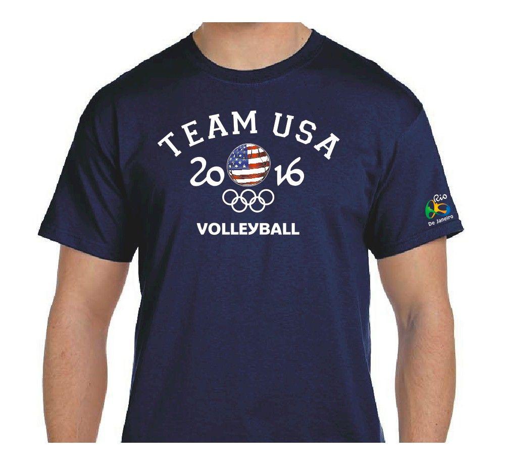 Volleyball Team Usa Rio 2016 Summer Olympic T Shirt 100 Cotton Shirts Team Usa Volleyball Team