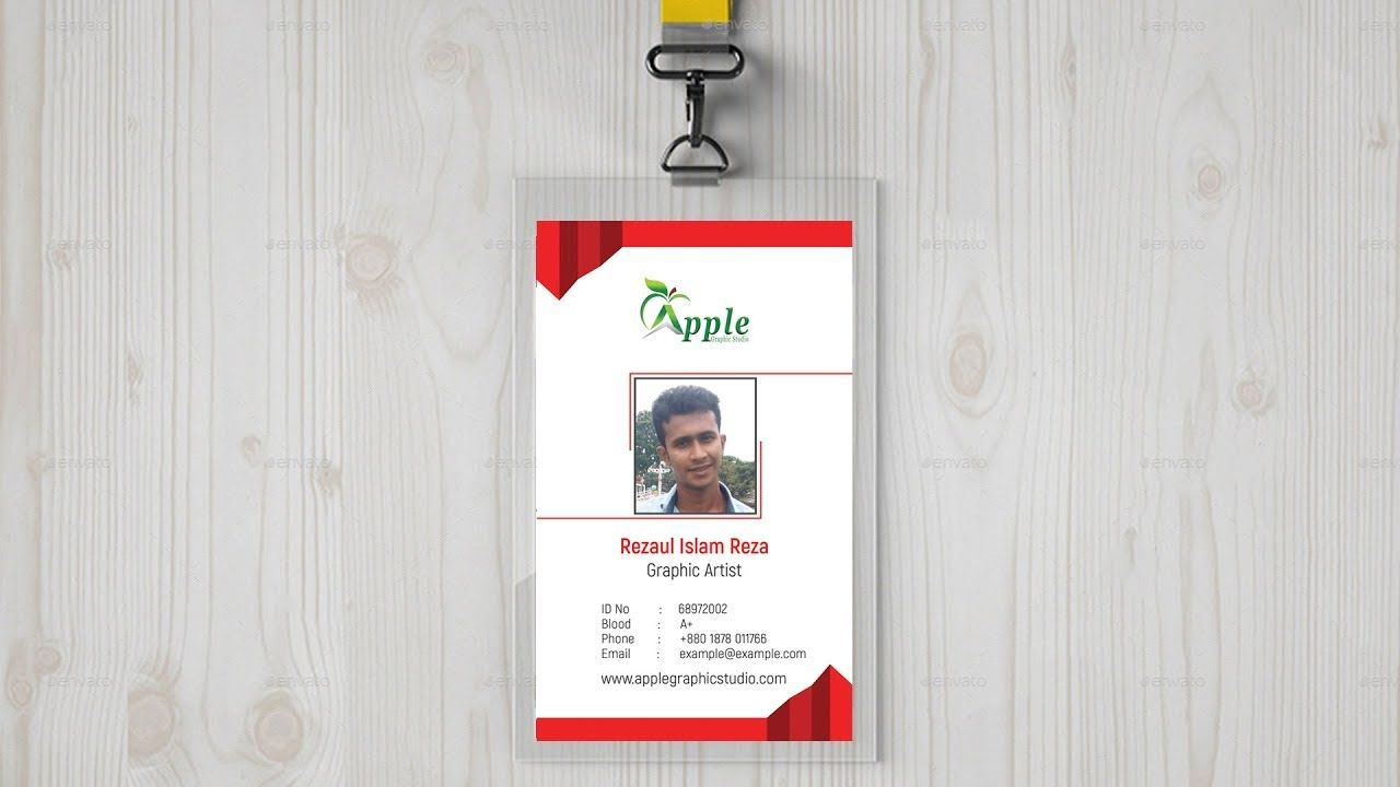 Company Id Card Design  Id Badge Maker  Photoshop Tutorial  Id