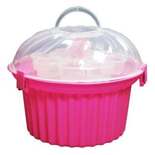 Sunny Side Up Bakery Pink Cupcake Shaped Cupcake Holder With Clear Lid Shop Hobby Lobby With Images Cupcake Holder Chabby Chic Decor Cupcake Carrier