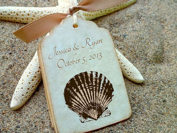 Pin By Holly Emrick Hlemrick On Wedding Ideas Vintage Wedding Favors Wedding Gift Tags Beach Wedding Favors