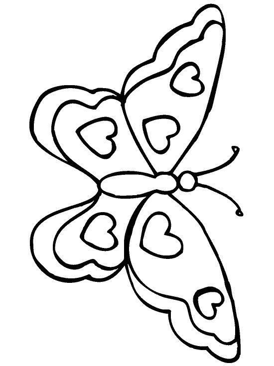 Colorier un dessin de papillons 60 ans mariage pinterest dessin papillon dessin et dessin - Silhouette papillon imprimer ...