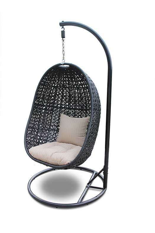 The Nimbus Outdoor Hanging Egg Chair Is Available With Or Without A Stand And Comes Bottom Seat Back Cushions That S Great Because You Can Don T