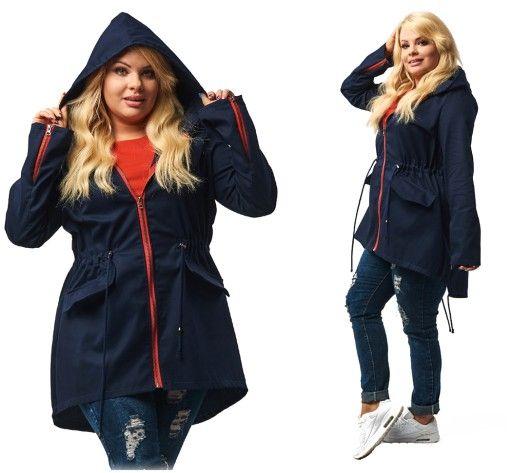 K 12 Asymetryczna Parka Vip Kurtka Plus Size Xxl 6921854161 Oficjalne Archiwum Allegro Plus Size Parka Fashion