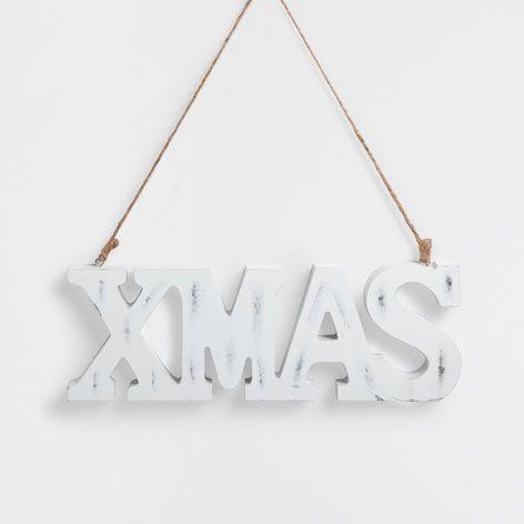 Weisse holzbuchstaben dekoration weihnachten zara for Zara dekoration