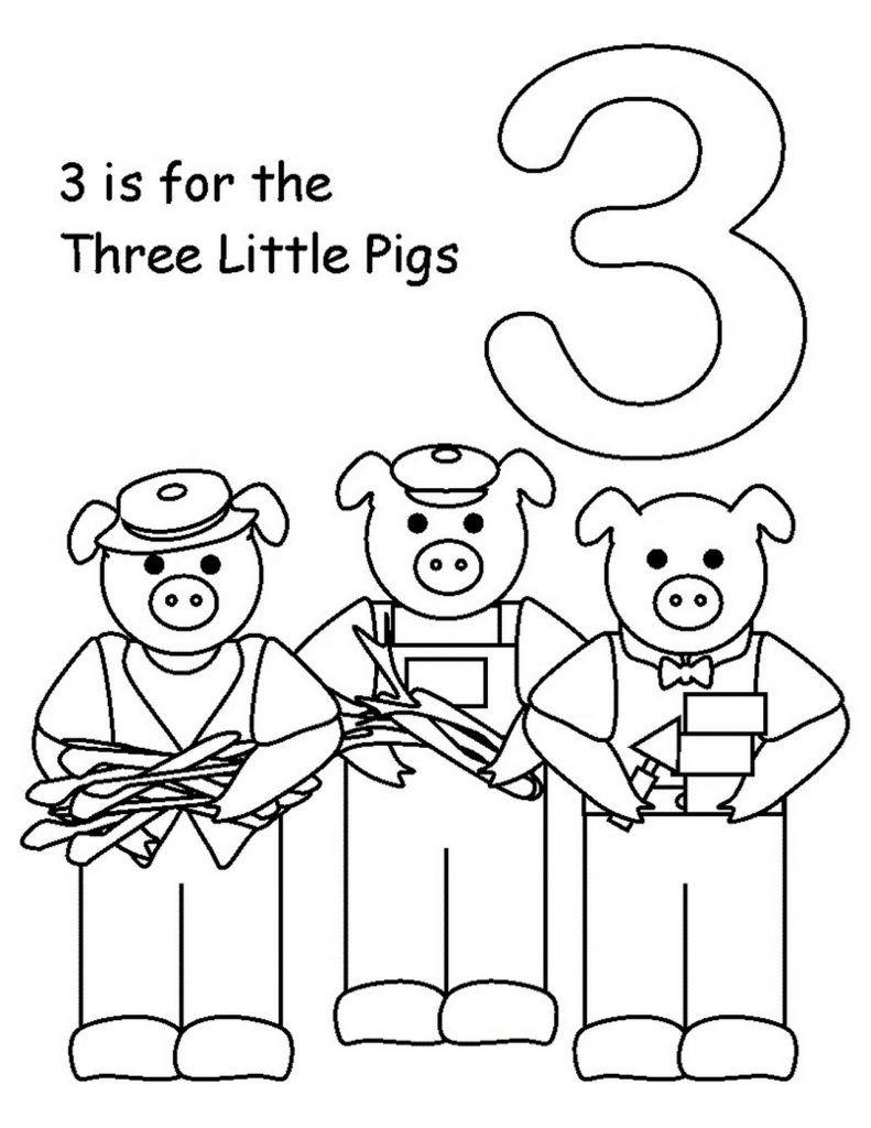 Coloring Rocks Kindergarten Coloring Pages Three Little Pigs Kindergarten Colors [ 1024 x 791 Pixel ]
