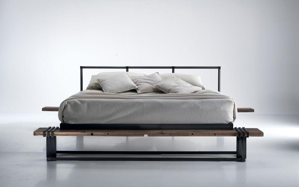 letto moderno legno e ferro caporali   wrought iron   Pinterest ...