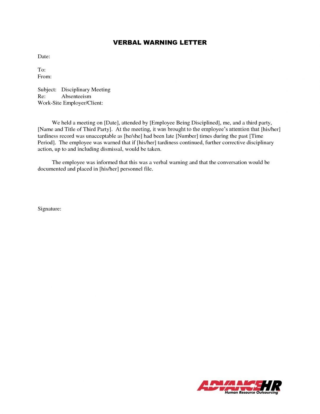 Late Employee Warning Letter from i.pinimg.com