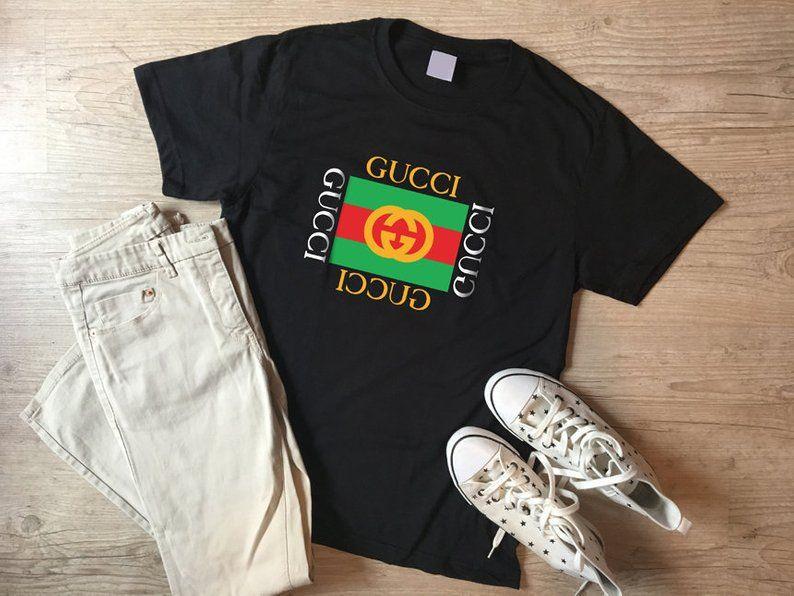 77b10433c74 Gucci shirt for women Gucci Inspired T-shirt MENS WOMENS