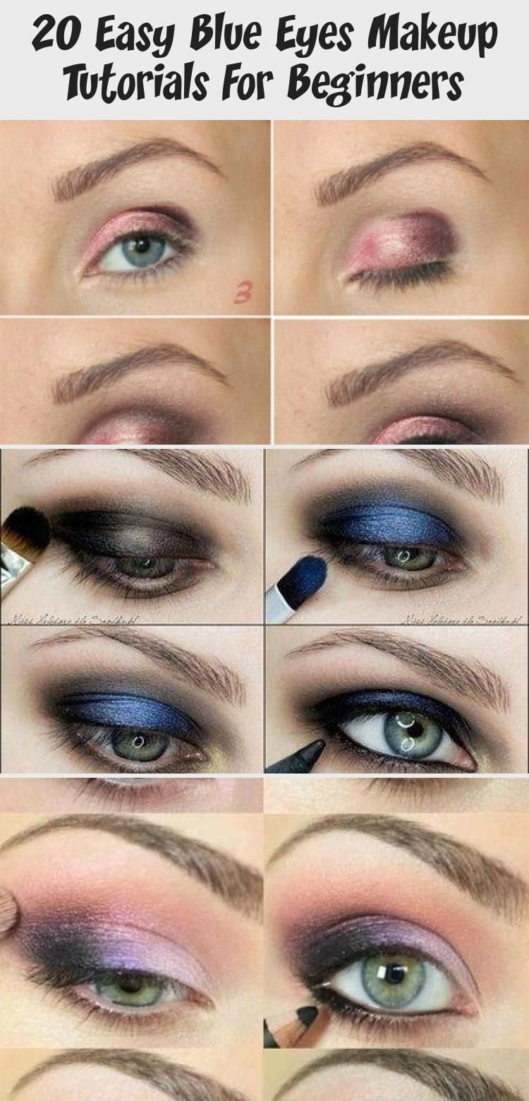 20 easy blue eyes makeup tutorials for beginners | beginners