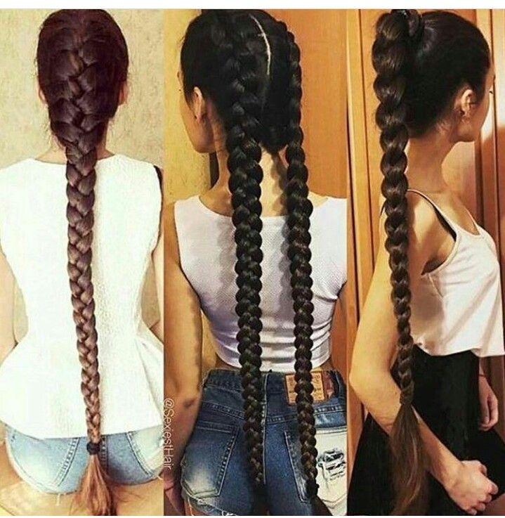 Three Different Braids For Casual Wear Braids For Long Hair Braided Hairstyles Long Hair Styles
