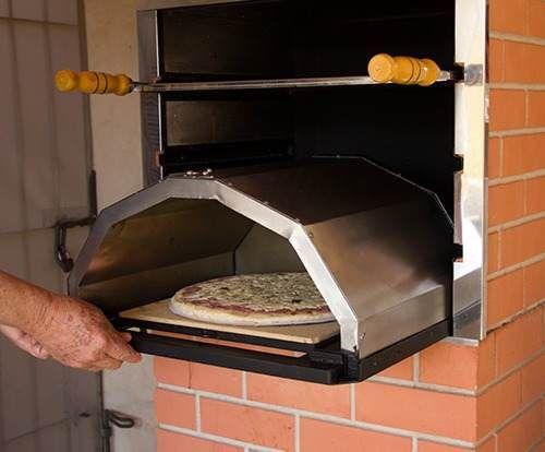 forno p/ pizza adaptável a churrasqueira à carvão -fabrica