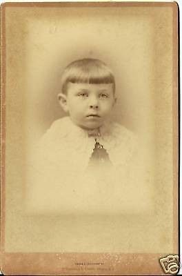 CABINET PHOTO HANDSOME YOUNG BOY POSING ALBANY N.Y.