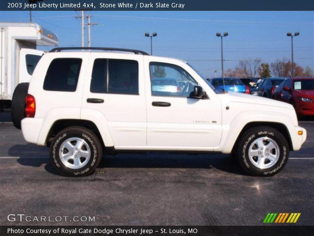2003 White Jeep Liberty 2003 Jeep Liberty Limited 4x4 In Stone