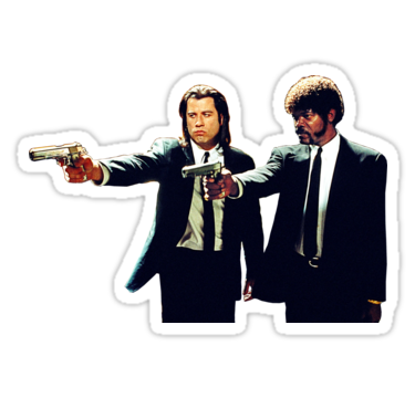 Vincent And Jules Pulp Fiction Sticker By Clpworks Pulp Fiction Aesthetic Stickers Stickers