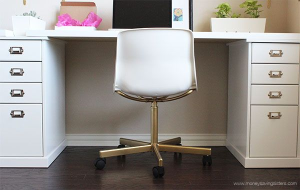 Ikea Hack Make The 20 Snille Chair Look Like An Expensive Office Chair Office Chair Makeover Desk Chair Diy Ikea Chair