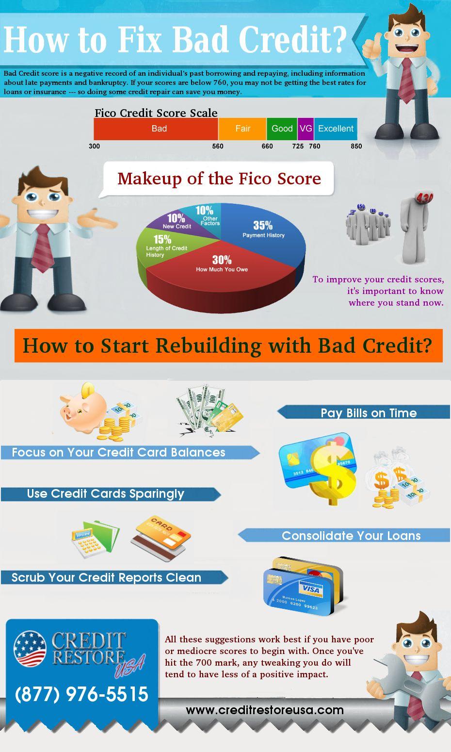 How To Fix Bad Credit Fix Bad Credit Improve Credit Credit Repair Companies
