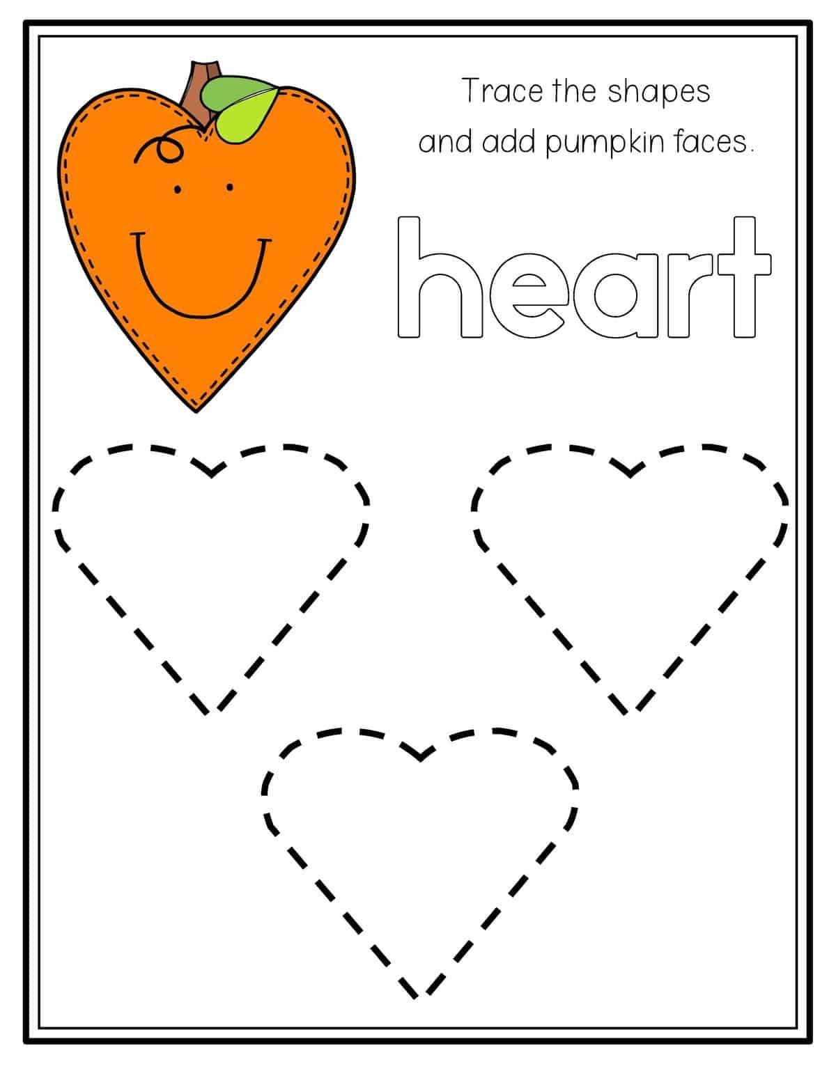 Pumpkin Shape Tracing Shape Worksheets For Preschool Shapes Preschool Shapes Worksheets [ 1538 x 1200 Pixel ]