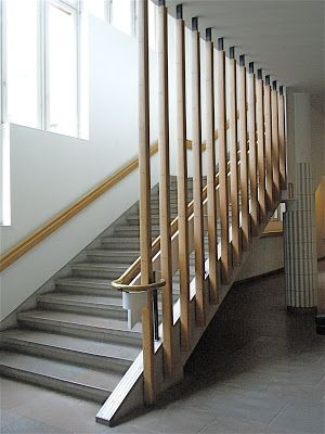 simple and striking staircase alvar aalto technical university rh pinterest com