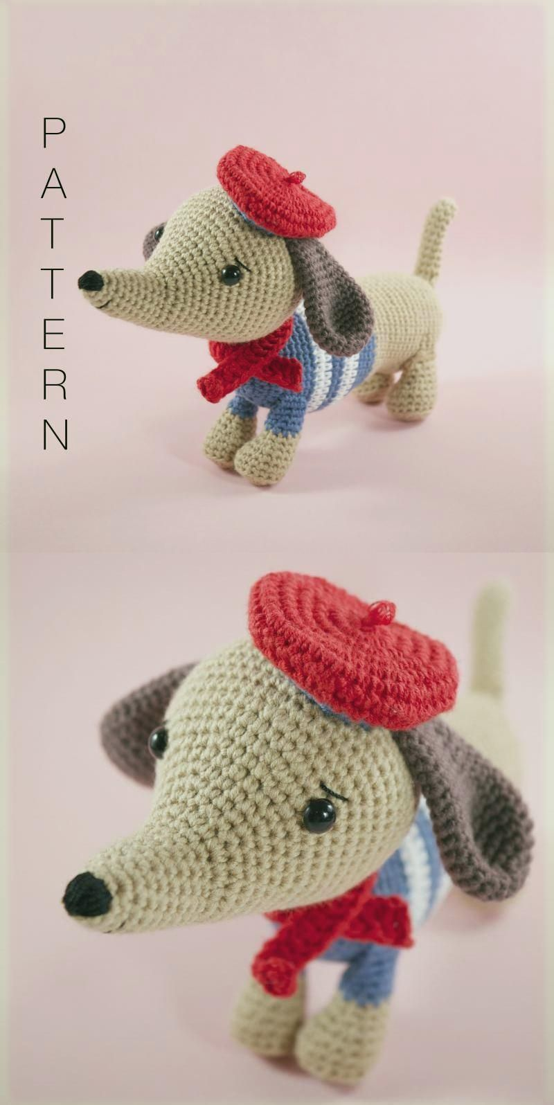 crochet sausage dog pattern - Crochet Now | 1596x800
