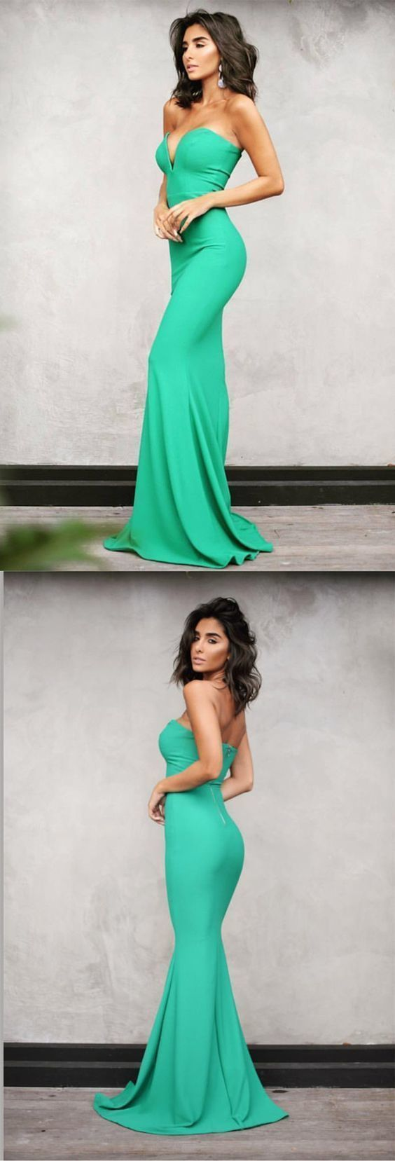 Green sweetheart mermaid prom dresses sexy long evening gowns in